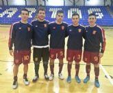 Jugadores de Plásticos Romero Cartagena se preparan para el Campeonato de España de selecciones autonómicas