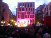 Cientos de niños asisten al espectáculo de la llegada de Papa Nöel