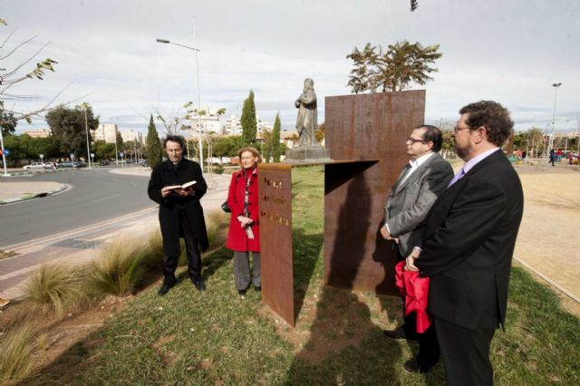 El Parque de San Ginés ya tiene a su santo - 1, Foto 1