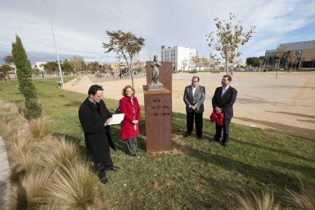 El Parque de San Ginés ya tiene a su santo - 2, Foto 2