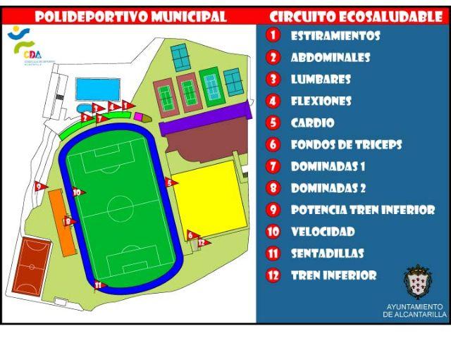 La concejalía de Deportes ofrece un circuito ecosaludable en las instalaciones del polideportivo municipal - 2, Foto 2