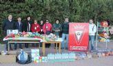 El Partido Solidario entre el C.D. Lumbreras y el Lorca Deportiva recauda más de 200 kg de comida que se destinan a Cáritas