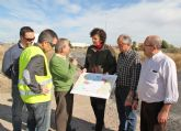 El DG de Carreteras y la Alcaldesa de Puerto Lumbreras visitan las obras de mejora de la carretera D16 que une Puerto Lumbreras con la Estación- El Esparragal