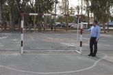 El antiguo parque infantil de tr�fico ahora tambi�n pista de f�tbol