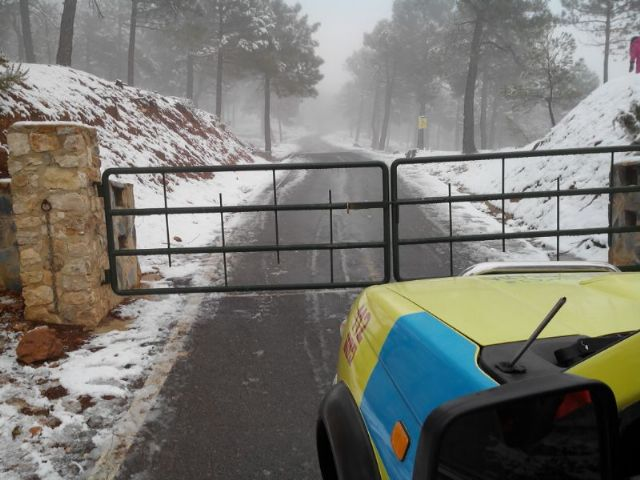 Fall 2014 first snow in Sierra Espuña