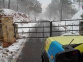 Caen las primeras nieves del 2014 en Sierra Espuña