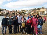 Usuarios del Centro de Día 'José Moya Trilla' realizan una visita al Centro de Día de Mazarrón