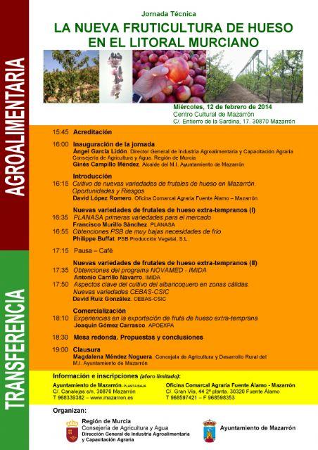 La nueva fruticultura de hueso será la protagonista de una jornada técnica en Mazarrón - 1, Foto 1