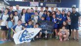 El Natación Cartagonova, subcampeón regional absoluto de invierno