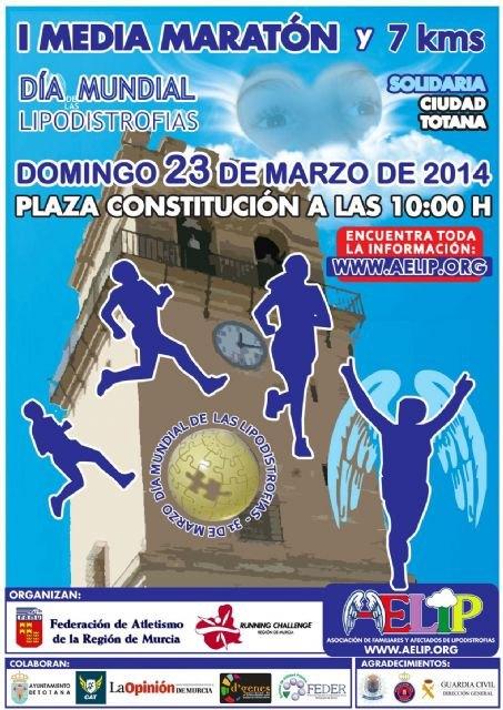 "The First Half Marathon Solidarity ""Ciudad de Totana"" to benefit AELIP be held on March 23, Foto 2"