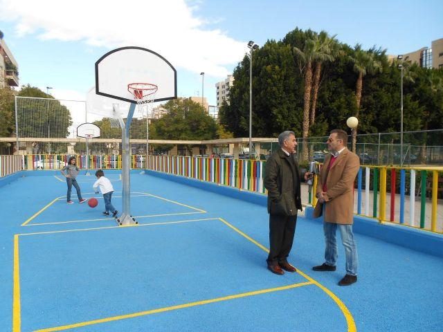 El Ayuntamiento completa la zona deportiva de Abenarabi con pistas de minibasket - 2, Foto 2
