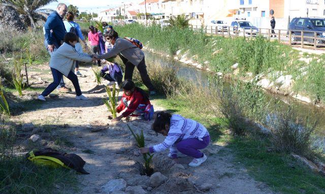 Escolares plantan 50 palmeras en el Parque Regional con motivo del Día Mundial de los Humedales - 2, Foto 2