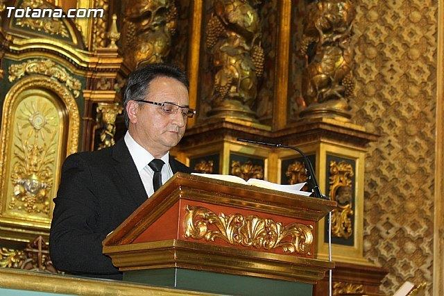 Antonio Mart�nez Belch� jur� su cargo de Presidente del Ilustre Cabildo Superior de Procesiones de Totana, Foto 1