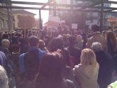 Los socialistas ciezanos se manifiestan contra el traslado del laboratorio del 'Lorenzo Guirao'