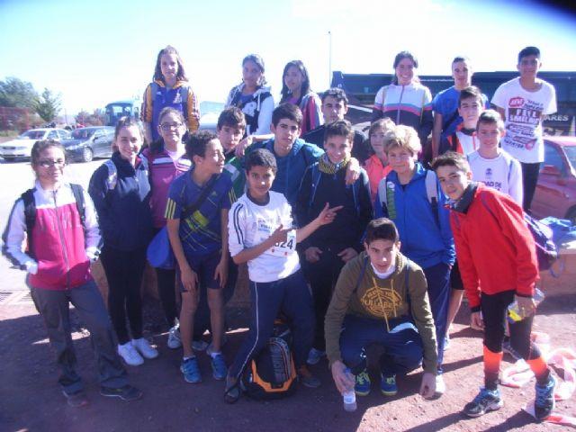 21 escolares de Totana participaron en la final regional de campo a través de Deporte Escolar infantil, cadete y juvenil, Foto 4
