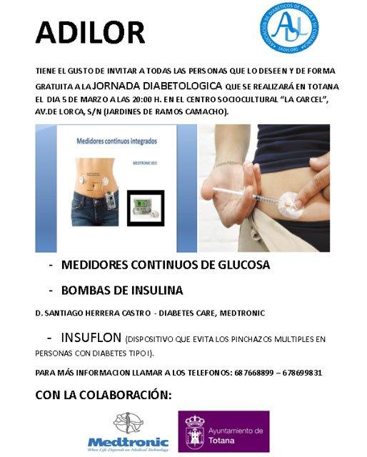 ADILOR (Asociación de diabéticos de Lorca y comarca) organiza una