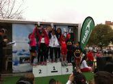 Las �peques� del Club Atletismo Mazarr�n campeonas regionales de cross benjam�n
