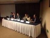 El totanero Juan Carrión en el desayuno con medios en el I Congreso Internacional de Enfermedades Raras celebrado en México