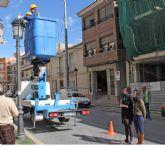 Comienzan las obras de renovación de alumbrado público con las que se reducirá en un 55% el consumo energético anual en Puerto Lumbreras