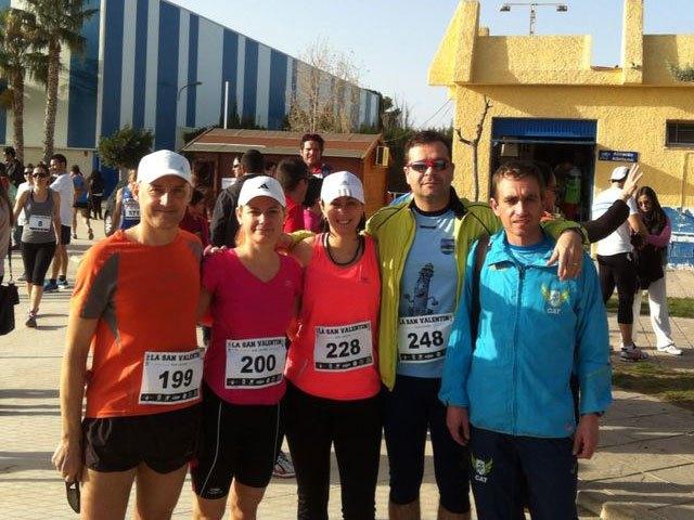 Atletas del Club Atletismo Totana participaron en la Carrera de San Valentin 2014