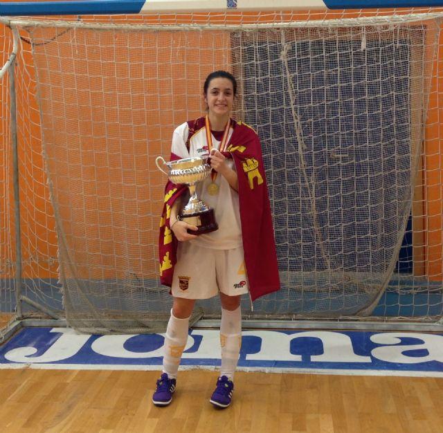 María Guirao campeona de España con la selección murciana de fútbol sala, Foto 2