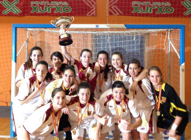 María Guirao campeona de España con la selección murciana de fútbol sala, Foto 3