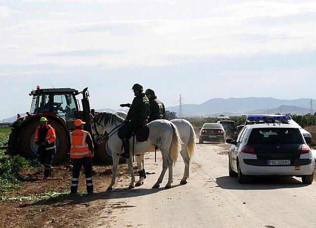 La Guardia Civil refuerza los servicios en la Región con el Escuadrón de Caballería y el Grupo de Reserva y Seguridad
