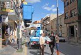 Obras de renovación de alumbrado público con las que se reducirá en un 55% el consumo energético anual en Puerto Lumbreras