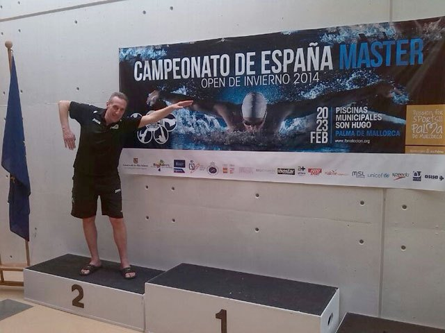 El totanero Jose Miguel Cano participó en el XX Campeonato de España Open de Invierno de Natación Master