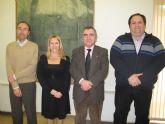 El consejero Manuel Campos recibe al presidente de la Federación Scout de Exploradores de Murcia