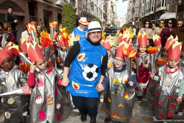 Los infantiles de San Isidoro desfilan con su disfraz por Cartagena - 1, Foto 1