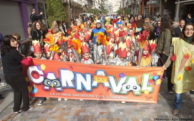 Los infantiles de San Isidoro desfilan con su disfraz por Cartagena - 2, Foto 2