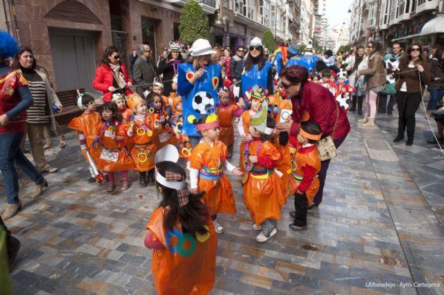 Los infantiles de San Isidoro desfilan con su disfraz por Cartagena - 3, Foto 3