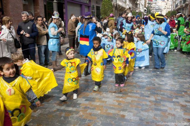 Los infantiles de San Isidoro desfilan con su disfraz por Cartagena - 5, Foto 5