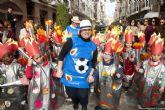Los infantiles de San Isidoro desfilan con su disfraz por Cartagena