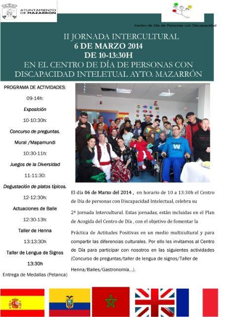 Este jueves 6 de marzo se celebra la II Jornada Intercultural del Centro de Día de Personas con Discapacidad Intelectual, Foto 1