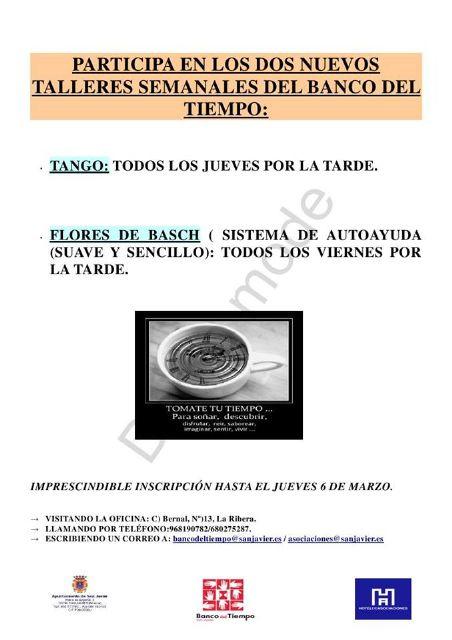 El Banco del tiempo incorpora talleres de tango y flores de Bach - 1, Foto 1