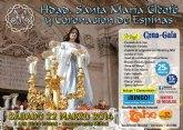 La Hermandad de Santa Mar�a Cleof� y Coronaci�n de Espina organiza una cena-gala que tendr� lugar el s�bado 22 de marzo