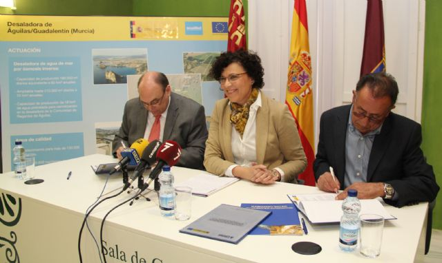 Acuamed y la Comunidad de Regantes de Puerto Lumbreras firman un convenio para la ejecución de obras complementarias de distribución de agua de la desaladora de Águilas-Guadalentín - 1, Foto 1