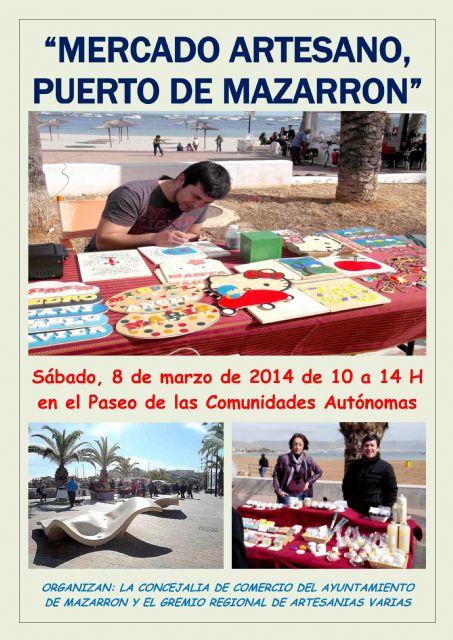 Este sábado 8 de marzo regresa el Mercado Artesano de Puerto de Mazarrón, Foto 1