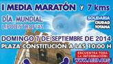 Comunicado oficial D´Genes y AELIP: Aplazamiento al 7 de septiembre de 2014 de la I Media Maratón Solidaria 'Ciudad de Totana'