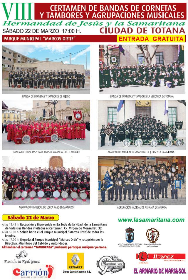 El VIII certamen de bandas de Cornetas y Tambores y Agrupaciones Musicales organizado por La Samaritana tendrá entrada gratuita, Foto 3