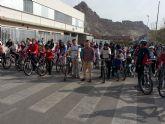Más de 100 alumnos del Colegio 'El Ope' participan en la Ruta ciclista organizada por el AMPA