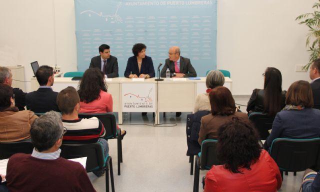 El Ayuntamiento, el INFO y el SEF organizan la jornada Apoyo al empleo y financiación empresarial en Puerto Lumbreras - 1, Foto 1