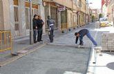 El Ayuntamiento realiza obras de mejora en la calle Mayor de Puerto Lumbreras
