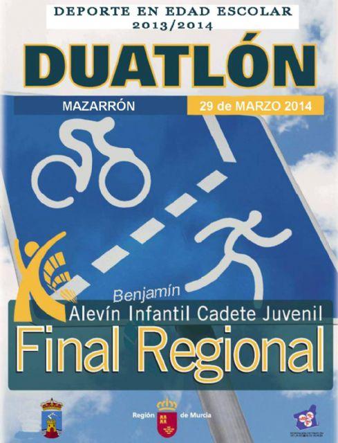 Mazarrón acoge este sábado 29 la final regional de duatlón del programa de deporte escolar, Foto 1
