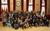 El Alcalde da la bienvenida a Murcia a estudiantes franceses de intercambio lingüístico