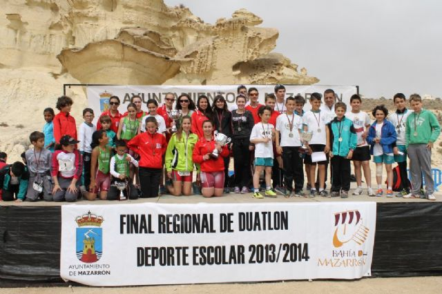 400 escolares participan en la final regional de duatlón de Deporte Escolar, Foto 3