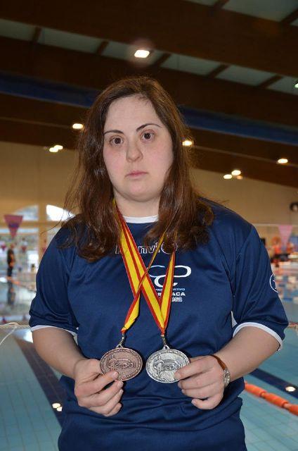 Loli de Gea consigue tres medallas en el Campeonato de España de Natación para personas con discapacidad - 4, Foto 4