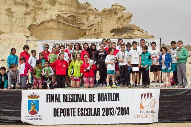Buena participación de Cehegín en la Final Regional de Duatlón en Edad Escolar - 1, Foto 1